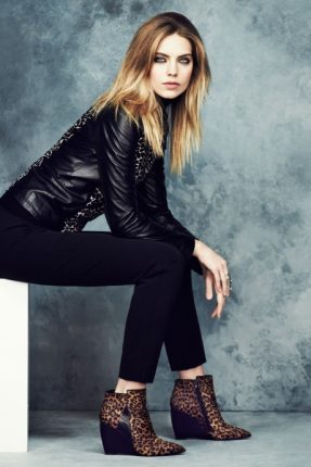 Giacca pelle Marks & Spencer autunno inverno 2013 2014