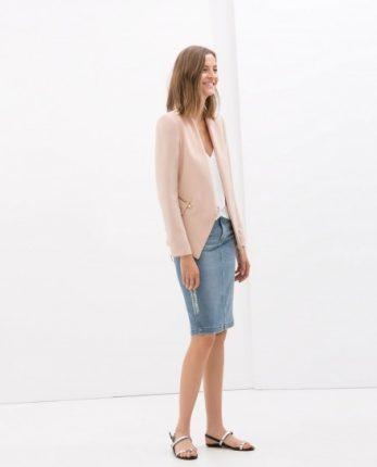 Giacca rosa Zara autunno inverno 2014 2015