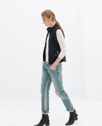 Gilet trapuntato Zara autunno inverno 2014 2015