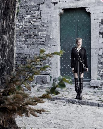 Giubbotto con cintura Carla G autunno inverno 2015