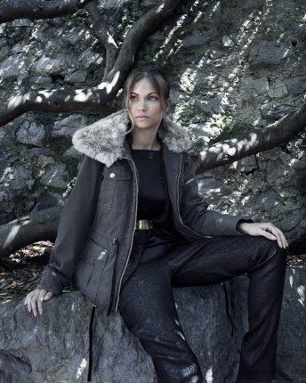 Giubbotto con collo in pelliccia Carla G autunno inverno 2015