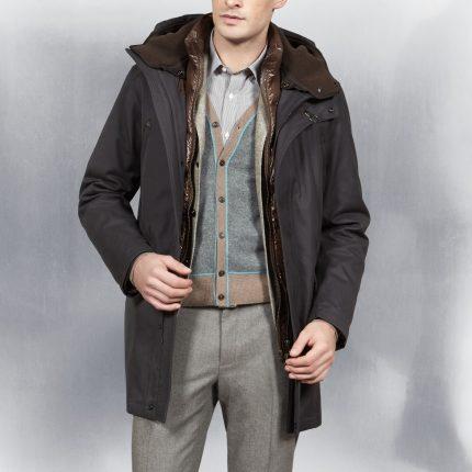 Giubbotto con collo in pelliccia Fay uomo autunno inverno 2015