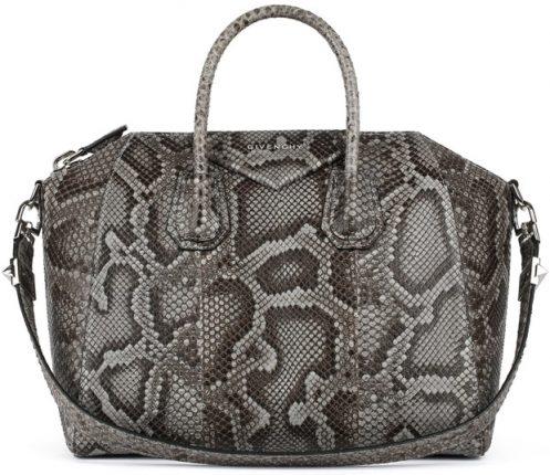 Givenchy borsa grande pelle di serpente