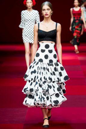 Gonna a strati Dolce & Gabbana primavera estate 2015