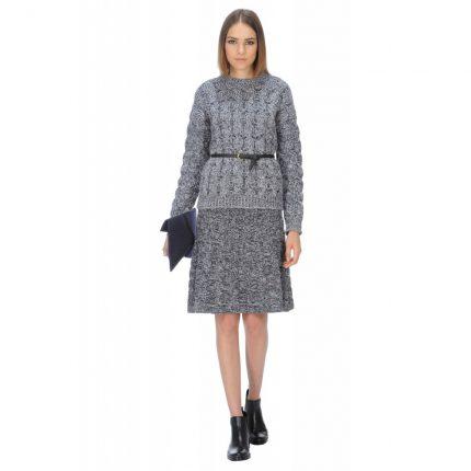 Gonna a trecce in lana cashmere Stefanel autunno inverno 2015