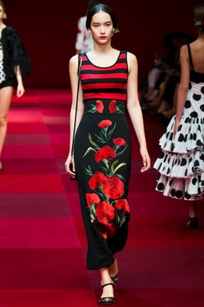 Gonna stampata Dolce & Gabbana primavera estate 2015