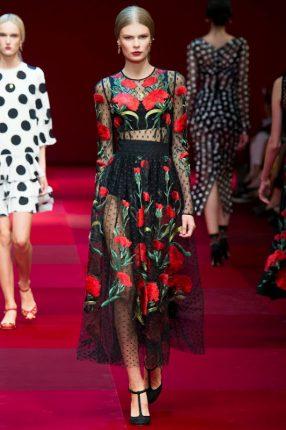Gonna vedo non vedo Dolce & Gabbana primavera estate 2015