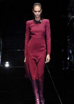 Gucci collezione autunno inverno 2013 2014 abito bordeaux