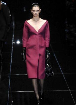 Gucci collezione autunno inverno 2013 2014 abito con scollo v