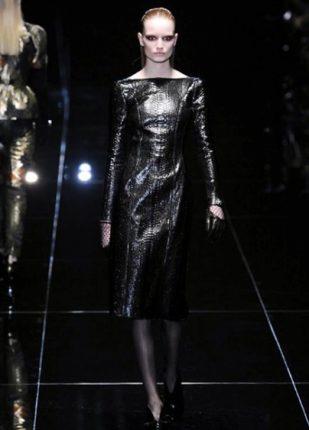 Gucci collezione autunno inverno 2013 2014 abito pelle