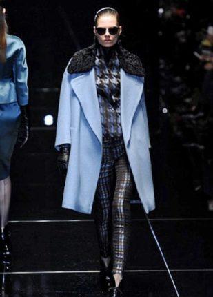 Gucci collezione autunno inverno 2013 2014 capotto celeste