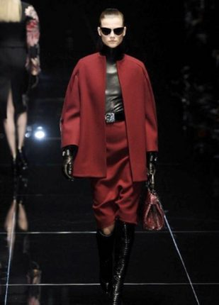Gucci collezione autunno inverno 2013 2014 gonna e giacca