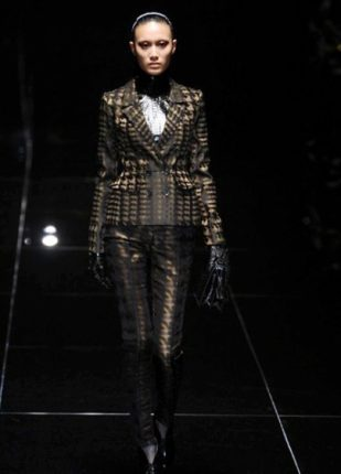 Gucci collezione autunno inverno 2013 2014 pantaloni giacca optical