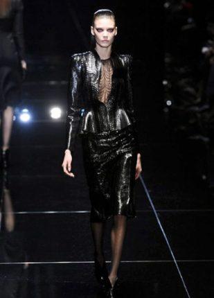 Gucci collezione autunno inverno 2013 2014 tailleur lucido
