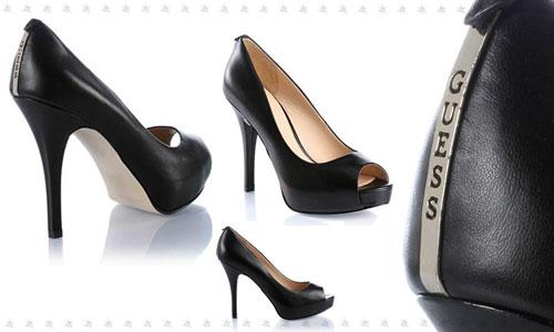 Guess scarpe sandali decollte nero