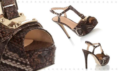Guess scarpe sandali pitonati