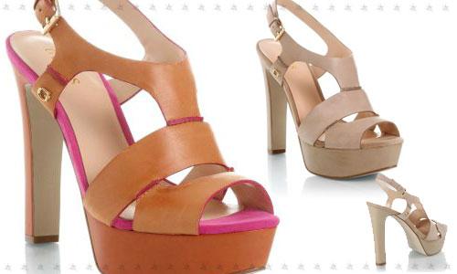 Guess scarpe sandali tacco largo