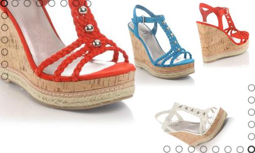 Guess scarpe sandali zeppe colorate