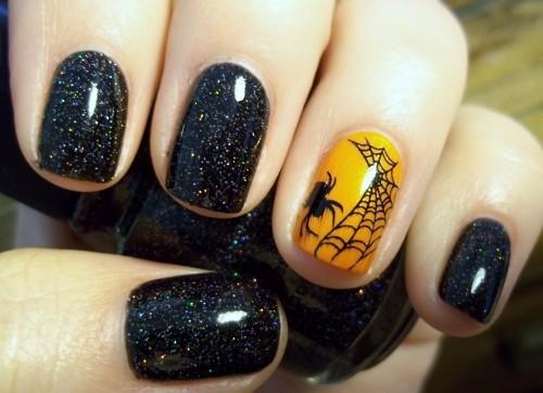 Halloween nail art semplice