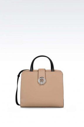 Handbag beige e nera Armani Jeans autunno inverno 2017