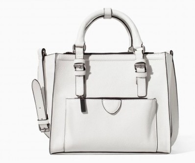 Handbag bianca Zara borse autunno inverno 2015
