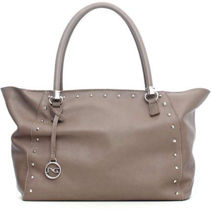 Handbag con borchie Nero Giardini autunno inverno 2017