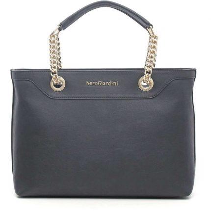 Handbag con manici a catena Nero Giardini autunno inverno 2017
