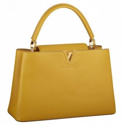 Handbag gialla Louis Vuitton