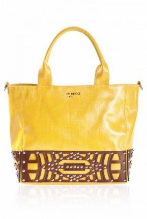 Handbag gialla Pinko