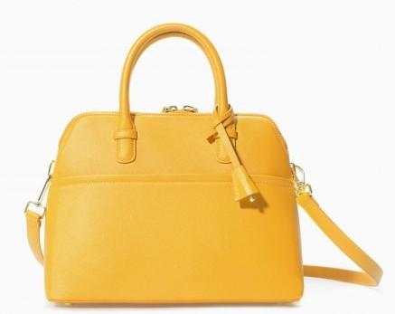Handbag gialla Zara borse autunno inverno 2015