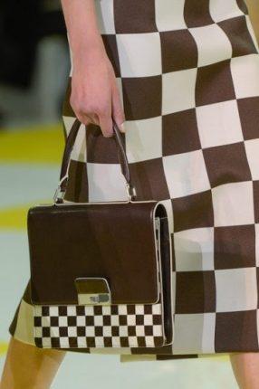 Handbag marrone e bianca