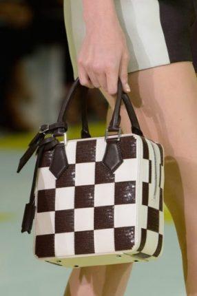 Handbag marrone e bianca quadrata