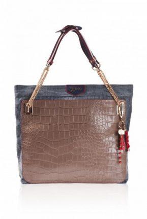 Handbag Pinko con stampa rettile