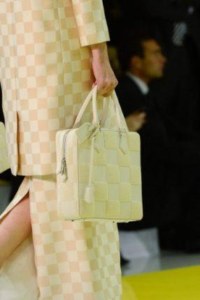 Handbag rettangolare gialla