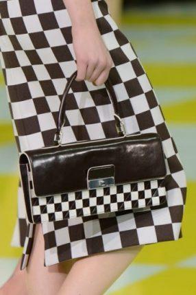 Handbag rettangolare marrone Louis Vuitton primavera estate 2013