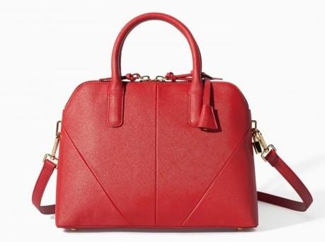Handbag rossa in pelle Zara borse autunno inverno 2015