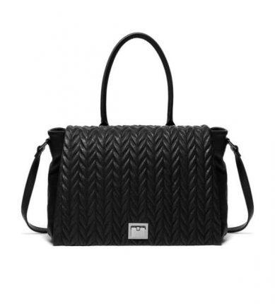 Handbag trama intrecciata Sisley autunno inverno 2017