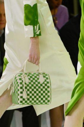 Handbag verde e bianca