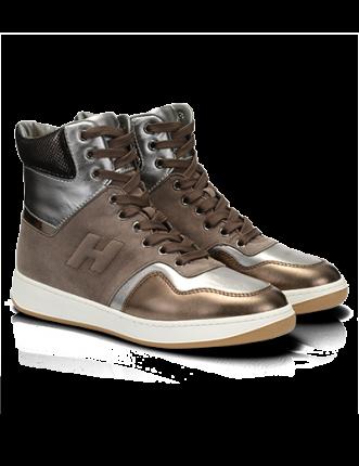 High-Top sneaker in pelle metallizzata Hogan autunno inverno