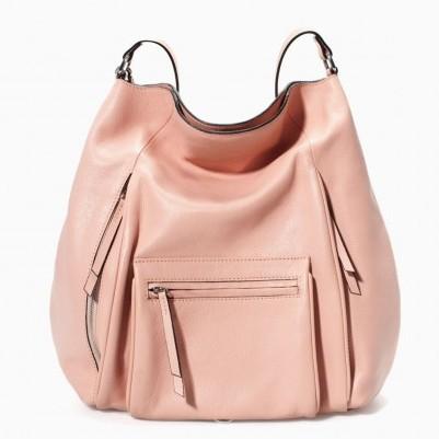 Hobo rosa cipria Zara borse autunno inverno 2015