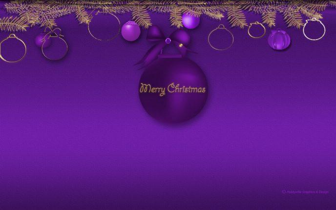 Immagini palline viola natalizie