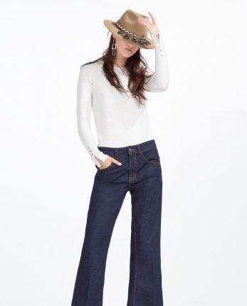 Jeans a zampa di elefante Zara primavera estate