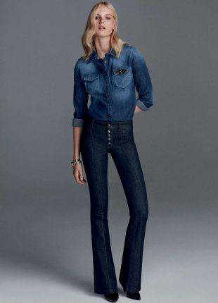 Jeans a zampa Liu Jo autunno inverno 2017