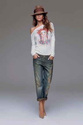 Jeans boyfrend Denny Rose autunno inverno 2015