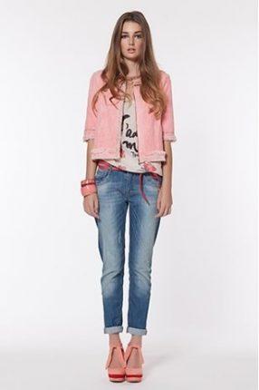 Jeans e giacca rosa Twin Set primavera estate 2013