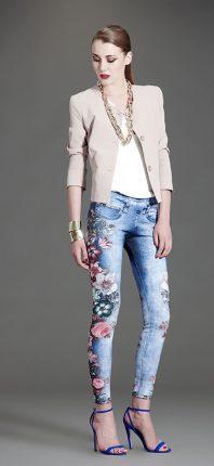 Jeans fiori Artigli autunno inverno 2015