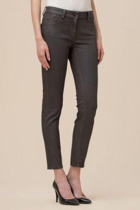 Jeans spalmato effetto metalizzato Luisa Spagnoli inverno 2017