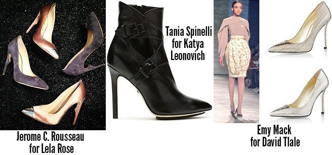 Jerome C Rousseau Lela Rose Tania Spinelli Emy Mack scarpe