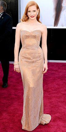 Jessica Chastain abito oscar 2013