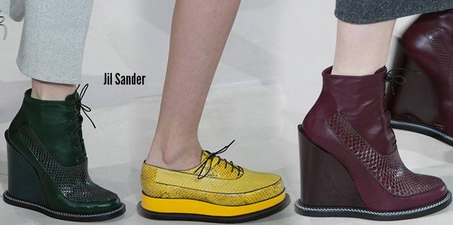 Jil Sander scarpe catalogo autunno inverno 2014 2015